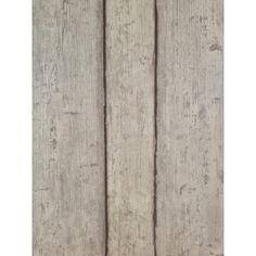 Authentic Vlies-Tapete 6827-10 Holz-Wand Bretter grau mit Struktur
