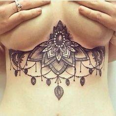 sternum tattoo underboobs designs - Recherche Google