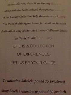 Life is a collection of experiences, let us be your guide. - Bristol hotel Warsaw