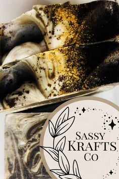This bar is great to soften rough spots, control odor, and help with circulation and cellulite. Promote healthy skin with caffeine. Rich decadent soap bar. The ground coffee bean and black walnut shell serve as a strong exfoliation. #sassykraftsco#coffeesoap#coffeebreak#coffeelover#coldbrew
