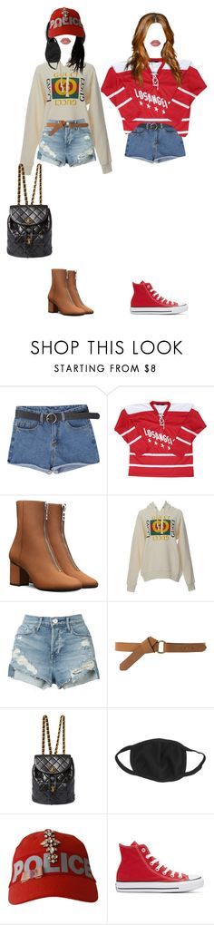 """""""[ fancam ] AhnJeong & Karen hanging out"""" by xxeucliffexx ❤ liked on Polyvore featuring Gucci, 3x1, MANGO, Chanel, Converse, Lime Crime, gemini, Karen and AhnJeong"""