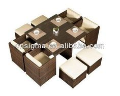 2014 Hot Sale Outdoor Rattan Furniture Setting Sofa Set Living Room Furniture Four Seat Sectional Sofas