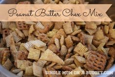 This Peanut Butter Chex Mix recipes is easy, delicious and great for that football tailgate party. Football Snacks, Football Tailgate, Football Parties, Tailgating, Snack Mix Recipes, Appetizer Recipes, Snack Mixes, Appetizers, Cereal Mix