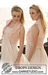 """Ravelry: 119-22 Waistcoat in """"Muskat"""" pattern by DROPS design"""