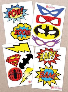 Planning a superhero themed birthday celebration? Get these over 30 sheets of free superhero party printables for your next party!