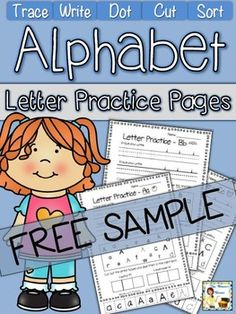 Grab this free alphabet page for some fun, interactive practice with the letter A!  You Might Also Like:Alphabet Spinners with Beginning SoundsRobot Themed Beginning Sounds PuzzlesAlphabet Practice GameAlphabet Punch Cards with Beginning Sounds Kindergarten Writing, Kindergarten Literacy, Preschool Learning, Teaching Kids, Alphabet Phonics, Alphabet For Kids, Alphabet Letters, Alphabet Activities, Kids Education