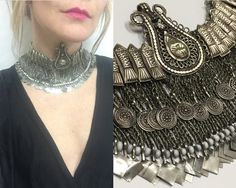 Real antique kuchi tribal vintage coin necklaces are a one-of-a-kind find, and this rare 70s choker is nothing short of amazing. Has real