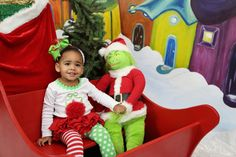 Whoville Christmas - Pic by Tanya Mally Photography , outfit by Mud Pie, and Bow by Ellies Garden By the Pink M Boutique