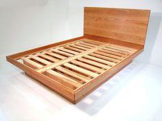 custom- platform bed with drawers. like this idea with different wood. Platform Bed With Drawers, Diy Platform Bed, Diy Furniture, Bedroom Furniture, Furniture Design, Floating Bed, Diy Bed Frame, Bed Frames, Idee Diy