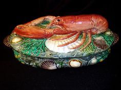 Majolica Minton lobster tureen