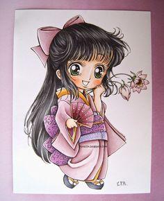 http://copicmarkerspain.blogspot.ca/2014/09/tutorial-coloreado-de-piel-con-copic.html -  Copic colors that I used: Skin: E02, E00, E000, E21, E11. Hair: N3, N5, N7, BV29. Kimono and head tie: RV91, RV93, RV95.  Fan: R83, R85, E34, E31, V93, V95. Flowers: R000, R81, R83, YG68, Y08. Eyes: G21, G82, G85. Obi and Obijime: V17, V15, V12, stamped with N7. Obiage: BV000, BV00, BV01. White (socks, neck): W1. Geta (shoes): BV29, BV25, BV23. Eri (neck): YR31, YR21, R23, Y28.