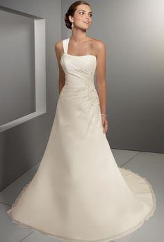 wedding dresses princess wedding dresses bling wedding dresses a line with straps a-line sweetheart chapel chiffonone shoulder bridal gow