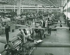 From 1939 to 1945 Allied factories produced a mind-blowing 630000 aircraft; one every 5 mins for 6 yrs straight!