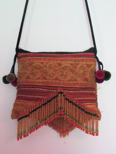 vintage beaded sling bag by shopgypsyriver on Etsy, $45.00