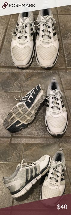 Adidas speed trainer 2.0 tennis shoes size 11 men Adidas speed trainer 2.0 tennis shoes size 11 men's. Gray and white. Only worn a few times. Like brand new. Adidas Shoes Athletic Shoes