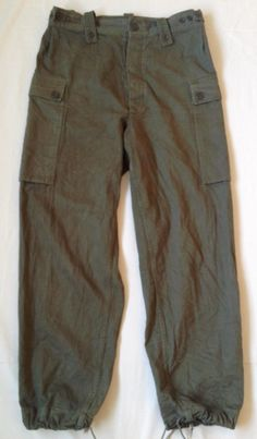 Dutch Army HBT trousers 1970's