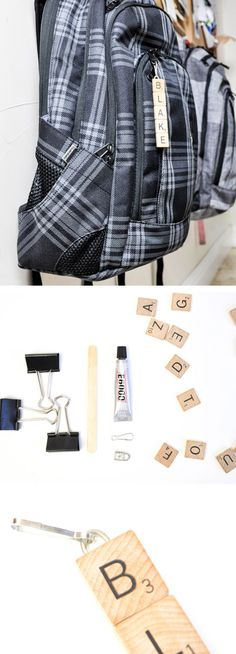 Scrabble Tile Zipper Pull | Click Pic for 18 DIY Back to School Crafts for Teens to Make | Easy Back to School Crafts for Kids to Make