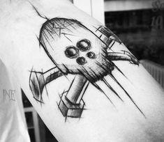 Mechanic Skull tattoo by Inne Tattoo