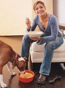 Rachel Ray's dog treat recipes...also, there's a link for an article for lists of safe and unsafe human foods; the safe list is great to know for when making dog treats
