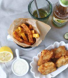 ( Puppenzimmer ): Fischstäbchen mit Kartoffelsticks ~ einfach selbst gemacht!