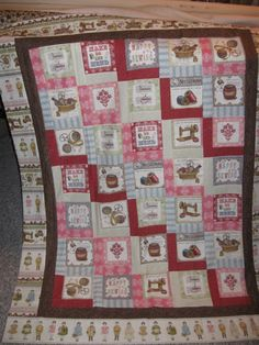 A cute throw with sewing notions on it!
