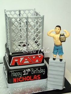 All kinds of cakes, all occasion cakes, Custom designed cakes Wrestling Cake, Wrestling Party, Birthday Cakes, Birthday Parties, Happy 10th Birthday, Cake Decorating, Decorating Ideas, Sport Cakes, Cake Making