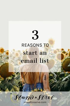 Building an Email List — Here are 3 Reasons to Get Started - standtoserve.com Digital Marketing Strategy, Email Marketing, Prioritize, Business Inspiration, Email List, Get Started, Social Media, Blogging, Building