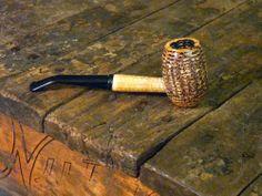 Aristocob Missouri Meerschaum Corn Cob Pipe Tobacco Smoking BENT GENTLEMAN