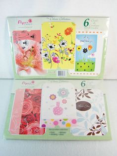 #Paper #Craft by International #Greetings USA 12 count piece ct. pc. #pastel colored #card & white #envelope #Deluxe #Collection lot/set with #foil #glitter #springtime #spring #designs #floral patterns and thank you themes, brand new & unused in original manufacturer's clear plastic factory sealed shrink-wrap protective packaging http://www.ebay.com/itm/NEW-PAPER-CRAFT-INTERNATIONAL-GREETINGS-USA-12-CARDS-ENVELOPES-DELUXE-COLLECTION-/111171106527?pt=LH_DefaultDomain_0&hash=item19e25076df