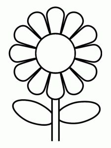 cute flower coloring pages - Kids Coloring Pages Flowers