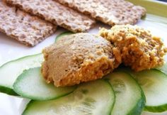 Lencsekrém Vegan Sauces, Vegan Recipes, Vegan Food, Healthy Food, Vegas, Sandwich Spread, Mustard, Sandwiches, Clean Eating