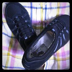 Skechers navy breath easy slide in tennis shoes Size 6W.. NIB. Navy blue, anti slip comfort sole. Breath easy material. Tennis/ walking shoe Skechers Shoes Athletic Shoes