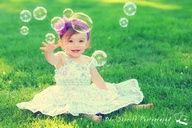 first birthday portrait ideas ...bubbles!