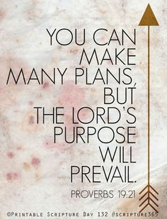 God's will always prevails..