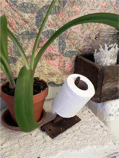 Toilet Paper Holder -- old hinge