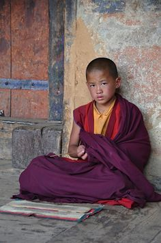 Jonge Monnik in Bhumtang