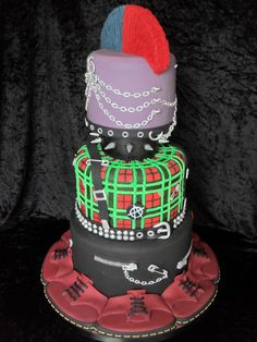 GOLD MEDAL winner at Cake International at NEC Birmingham. Punk Wedding Cake