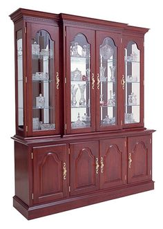 Cherry Breakfront China and Buffet by Colonial Furniture Living Room Furniture Arrangement, Bedroom Furniture Design, Home Decor Furniture, Dining Furniture, Crockery Cabinet, Cabinet Decor, Glass Kitchen Cabinets, Cherry Furniture, Colonial Furniture