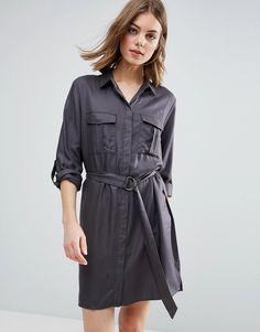 b.Young Gillian Shirt Dress - Brown