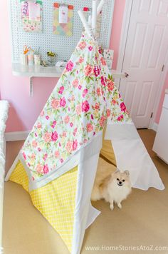Easy DIY no sew teepee tutorial No Sew Teepee, Diy Kids Teepee, Knitting Storage, Knitting Needle Sets, Dress Sewing Tutorials, Sewing Patterns, Sewing Ideas, Teepee Tutorial, Learn To Sew