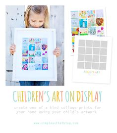 7.95 to purchase this template, next photograph your kids work, insert, & print.