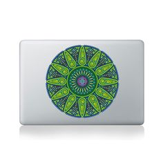 Geometric Sunshine Mandala Vinyl Macbook Sticker for Macbook 13/15
