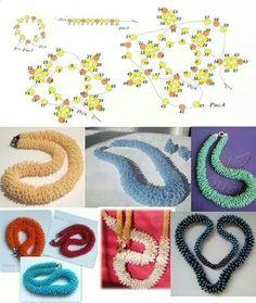 free seed bead patterns and instructions Crochet Beaded Bracelets, Beaded Necklace Patterns, Beaded Jewelry Designs, Seed Bead Patterns, Seed Bead Jewelry, Bead Jewellery, Bead Crochet, Beading Patterns, Bracelet Patterns