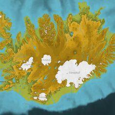 Mapa de #Islandia by Konstatin Kaefer