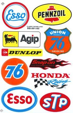 vintage race car sponsor decals - - Yahoo Image Search Results ...