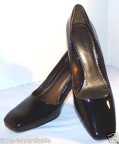 Naturalizer-Classic-Black-Shiny-Pumps-Heels-Shoes-Fentress-Womens-Size-9M