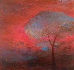 Red Tree at Sunset - click to enlarge