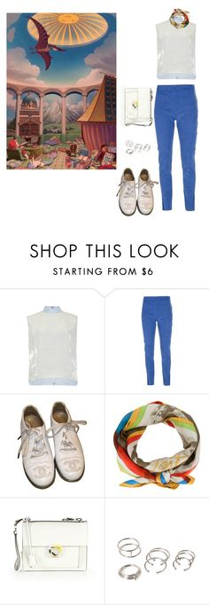 """""""Spirited Away"""" by danisalalkamis ❤ liked on Polyvore featuring Delpozo, Acne Studios, Chanel, Claude Montana, Salvatore Ferragamo and Forever 21"""