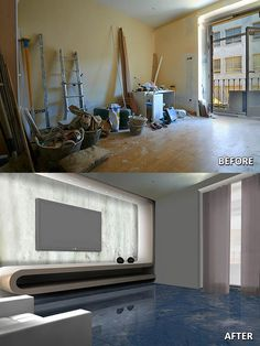 Room ---> Floor with Blue Planet Marble and home theater with Ice Onyx (with backlight)
