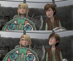 Look at Hiccup's cute little smile in the second picture.